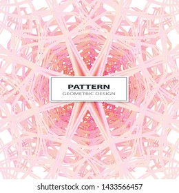 Abstract Vector seamless pattern with abstract geometric style. Repeating sample figure and line. For interiors design, wallpaper, textile industry.