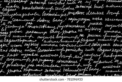 "Abstract vector seamless pattern with handwritten text, ""chalk writings on blackboard"" effect"