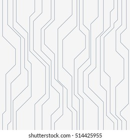 Abstract vector seamless pattern with lines. Color background in high tech style.