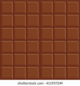 Abstract vector seamless pattern. milk chocolate. Very simple design, chocolate bar, rectangle, square geometric form. Brown, beige colors