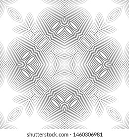 Abstract vector seamless pattern. Simple geometric shapes. Monochrome shades of color.