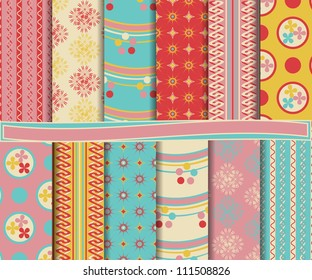 abstract vector set for scrapbook