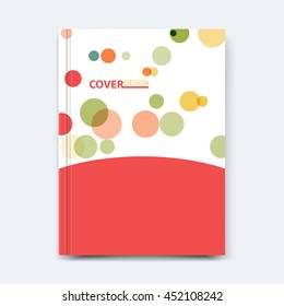 Abstract vector shape design for cover, poster, banner, flyer, business card, magazine annual report, title page, brochure template layout or booklet .A4 size with polygons on white background.