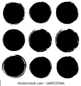 Abstract vector shapes, black graphic elements for product design, banners and buttons