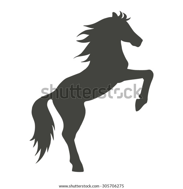 Horse On Hind Legs Silhouette
