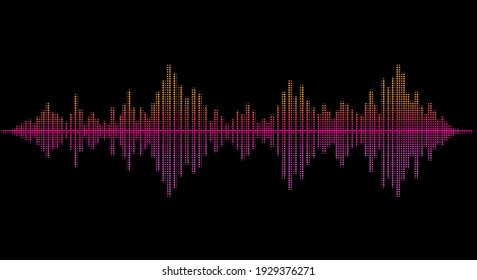 Abstract vector sound wave background.