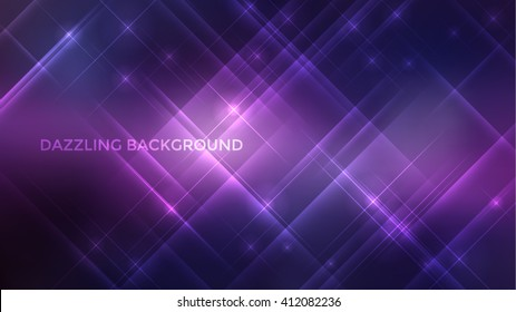 Abstract vector sparkle background design. Dazzling colorful background template.