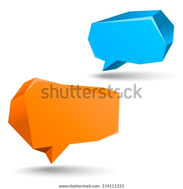 abstract vector speech bubbles