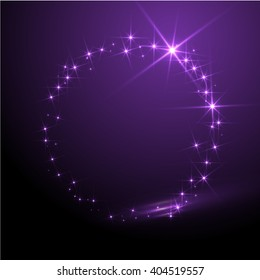 Abstract vector sphere. Purple background.