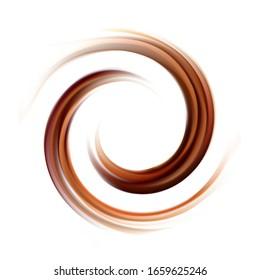 Abstrakte Vektorillustration, Spiralhintergrund, hellfarbig