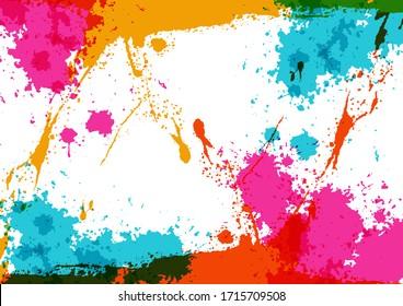 abstract vector splatter color design background concept ,illustration vector design