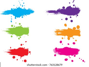 abstract vector splatter label set background. illustration vector design
