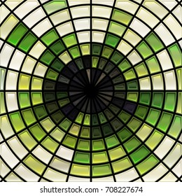 abstract vector stained-glass mosaic background - bright green