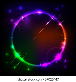 Abstract vector starred circle background