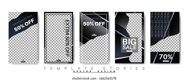 abstract vector story template for your social media. design vector background