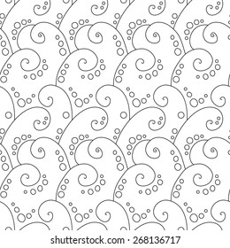 Abstract vector swirl simple seamless pattern.