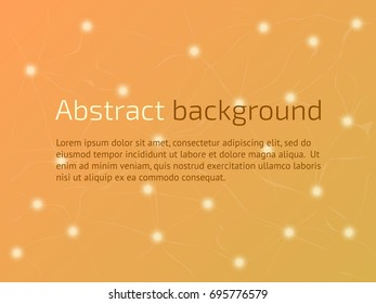 Abstract vector technological background. Plexus elements. Neural networks. High tech business template. Vector illustration.
