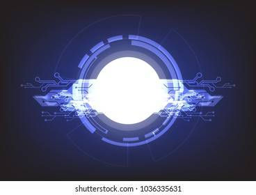 abstract vector technology background illustration