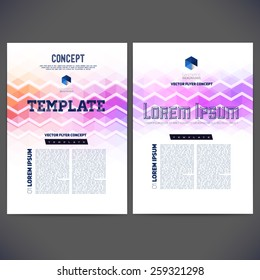 Abstract vector template design, brochure, Web sites, page, leaflet, with colorful geometric triangular backgrounds, logo and text separately.
