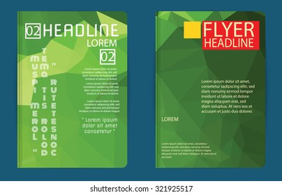 Abstract vector template design, brochure, Web sites, page, leaflet, with colorful geometric triangular backgrounds,