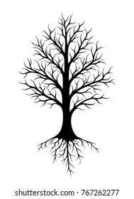 Abstract vector tree with roots and without leaves