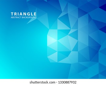 Abstract vector triangle background - Vector