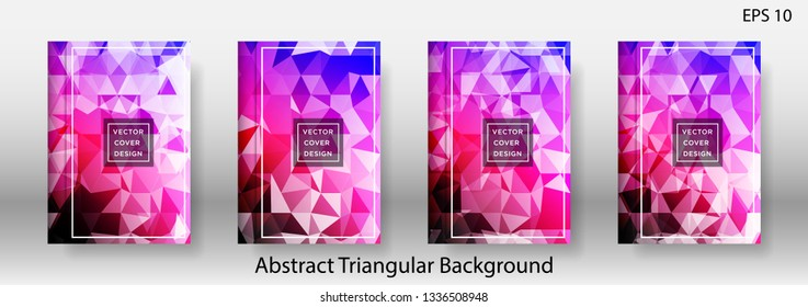 Abstract vector triangle background for use in design in eps 10 Applicable for design cover, presentation, invitation, flyer, annual report, poster and business card, desing packaging - Vector