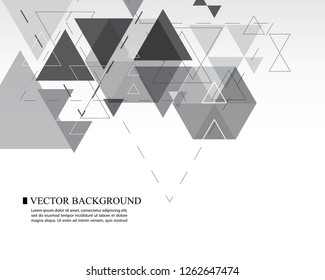 abstract vector triangle geometric shape white background