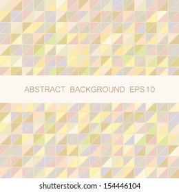 Abstract vector triangle mosaic background