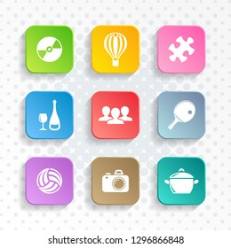 Abstract vector universal leisure web and mobile icons