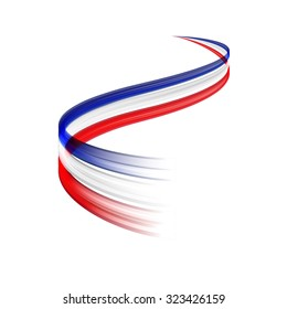 Abstract vector wake moving, dynamic french or english flag concept