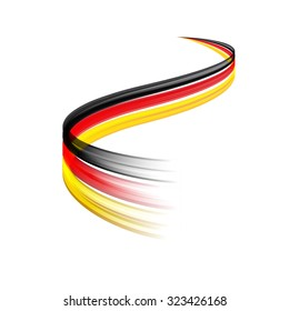 Abstract vector wake moving, dynamic german flag concept