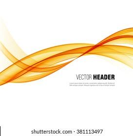 Abstract vector wave background, orange waved lines for design brochure, website, flyer