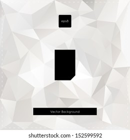 Abstract vector white polygonal background.