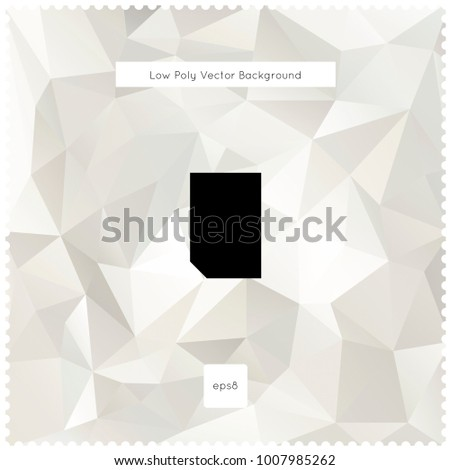 Abstract vector white polygonal background. The vector illustration for ui, web games, tablets, wallpapers, and patterns.