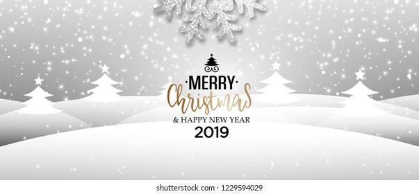 Abstract vector winter holiday Christmas greeting card