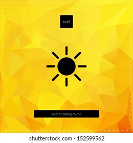 Abstract vector yellow polygonal background.