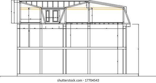 Abstract vectorial building drawing
