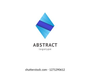 Abstract vetor logo vector design. Sign for business, internet communication company, digital agency, marketing. Modern decorative geometric icon.