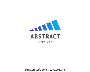 Abstract vetor logo vector design. Sign for business, internet communication company, digital agency, marketing. Modern decorative geometric icon.