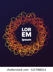 Abstract vibrant banner. Template for a content. Lorem ipsum