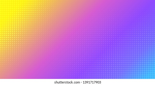 Abstract vibrant gradient vector background. Halftone effect template for flyer, banner, poster design