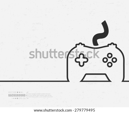 Abstract Video Game Controller Vector Background Stock Vector - Mobile game design document template