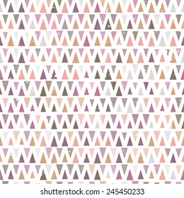 Abstract vintage background with triangle shapes. Seamless pattern in ethnic style