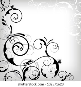 an abstract and vintagelike floral background for design