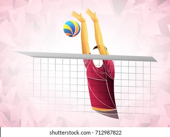 Abstract volleyball player dark-skinned, boy, student