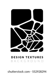 Abstract voronoi design background. Geometric vector illustration