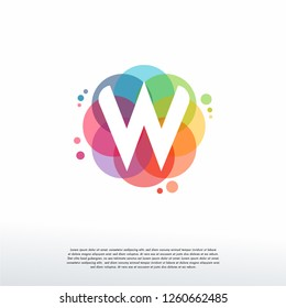 Abstract W Initial logo designs concept vector, Colorful Letter W logo designs