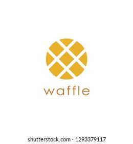 Abstract waffle logo icon vector