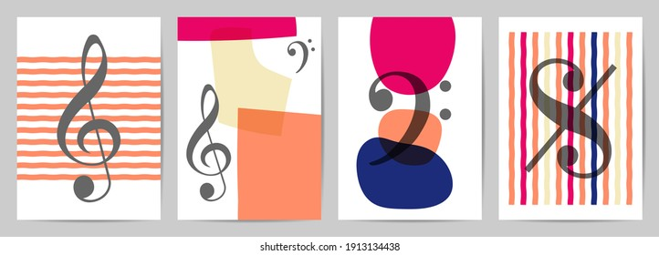 Abstract wall arts vector. Trendy set, Design for wall framed prints, canvas poster, artwork as postcard or brochure.Vector illustration.